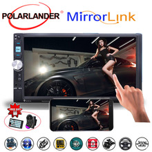 7 Inch MP5 Player Mirror Link Screen Stereo 2DIN Car Radio FM USB TF Touch Screen Bluetooth With Camera Mirror For Android Phone цены онлайн