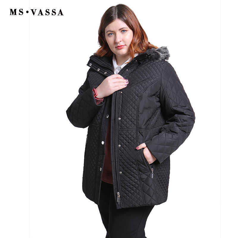 0b81c779e29 ... MS VASSA Plus Size Women Coats 2018 New Ladies Parka Winter Jacket Women  ukraine Wide- ...