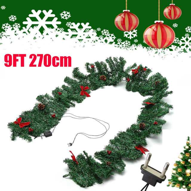 Hanging Christmas Tree Drop Ornaments Pendant Luminous Green Garland Home Mall Party Diy Decoration Supplies