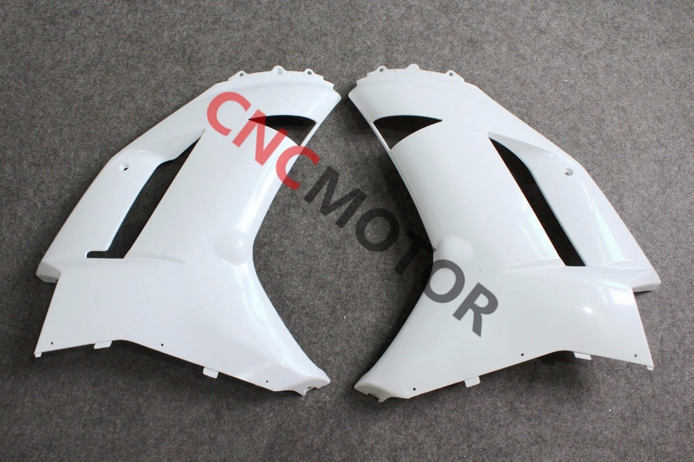 Unpainted Raw Right & Left Mid Side Panel Fairing Kit for KAWASAKI ZX-6R ZX6R 636 2007 2008 зажимы apex hic mono kit raw