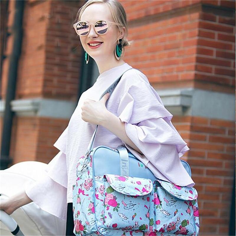 HTB1CyMBLH2pK1RjSZFsq6yNlXXav Mummy Maternity Nappy Bag Stroller bolsa Large Capacity Baby Travel Backpack Mommy Nursing Bag Baby Care Changing Diaper Bag