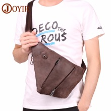 JOYIR Shoulder Bags Men Genuine Leather Chest Bags Single Shoulder Fashion Crossbody Bags for Men Chest Pack Short Trip Bolsa