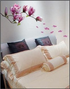 liberi la nave ! 4 pz ! viola orchidea / decorativi adesivi murali ...