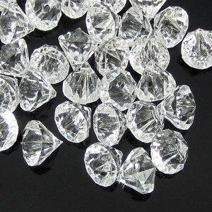 Image 3 - 50pcs perles en diamants en acrylique transparent, perles à facettes, remplissage de vase de table, pirate, cristaux, à réaliser soi même, décorations de fête, 12.0mm