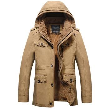New Mens Winter Jacket Fashion Hood High Qualtiy 100% Cotton Plus Size Thicken Fleece Casual Jacket Coat For Men M~6XL BF8808