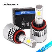MALUOKASA 1Set 72W Car Headlight H7 LED 8000LM H1 H8 H9 H11 H4 LED Bulb Auto