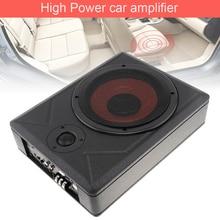 Universal 10 Inch Car Subwoofer Speaker 600W Slim Under Seat Active Bass Amplifier Black Fuselage