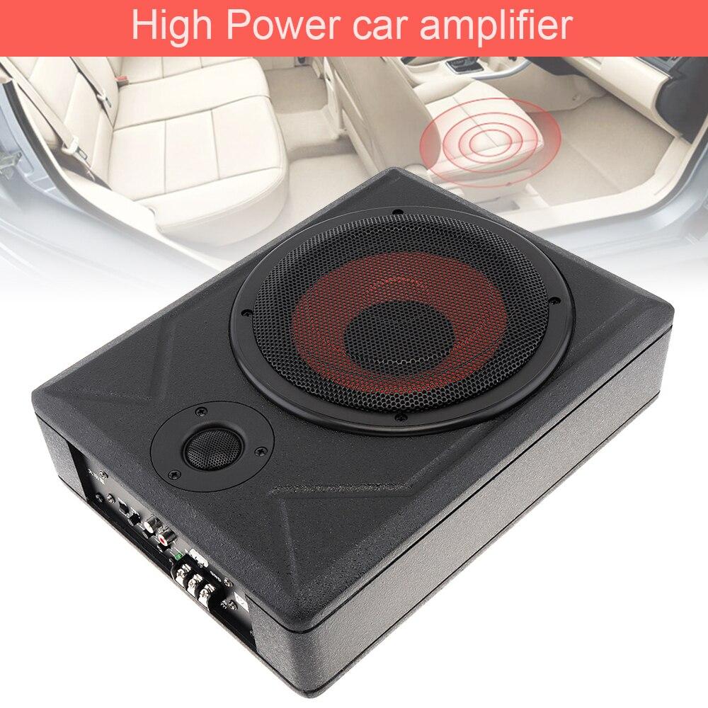 Universel 8 pouces voiture Subwoofer haut-parleur 600W mince voiture sous siège voiture actif Subwoofer basse amplificateur haut-parleur noir Fuselage mince