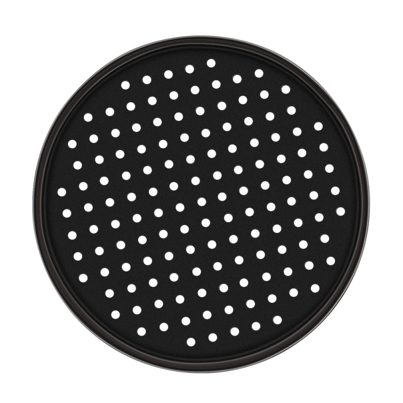 Pizza Pans with Holes 12 Inch Pizza Baking Tray DIY Breathable Baking Tray High Temperature Baking Tray For Oven