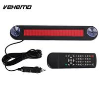 VEHEMO 12V Programmable Car Automotive LED Display Scrolling Board Automobile Subtitle Display Presentation Caution Auto