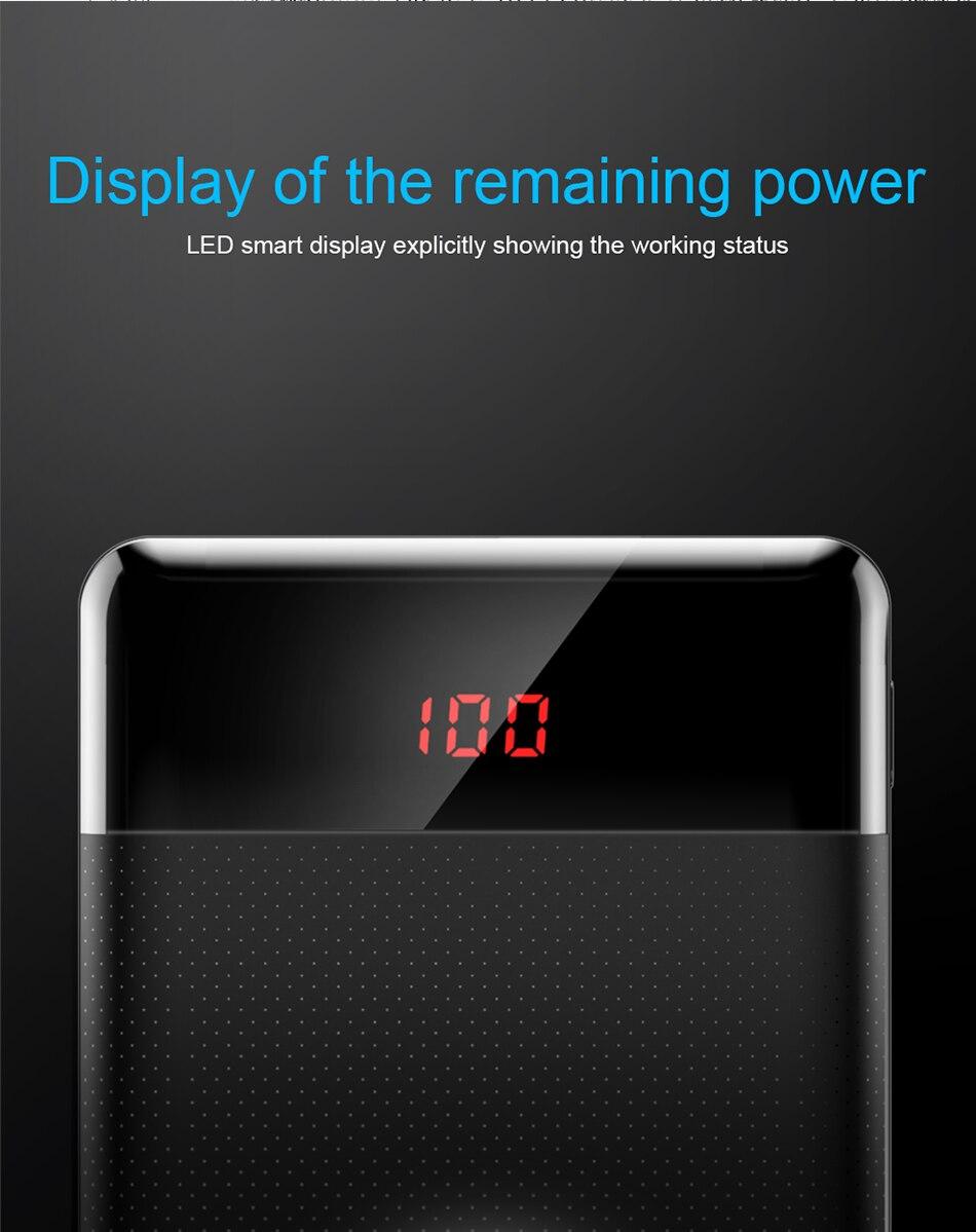 Baseus 10000mAh Power Bank przenośna ładowarka do Xiao mi mi 9 iPhone 6