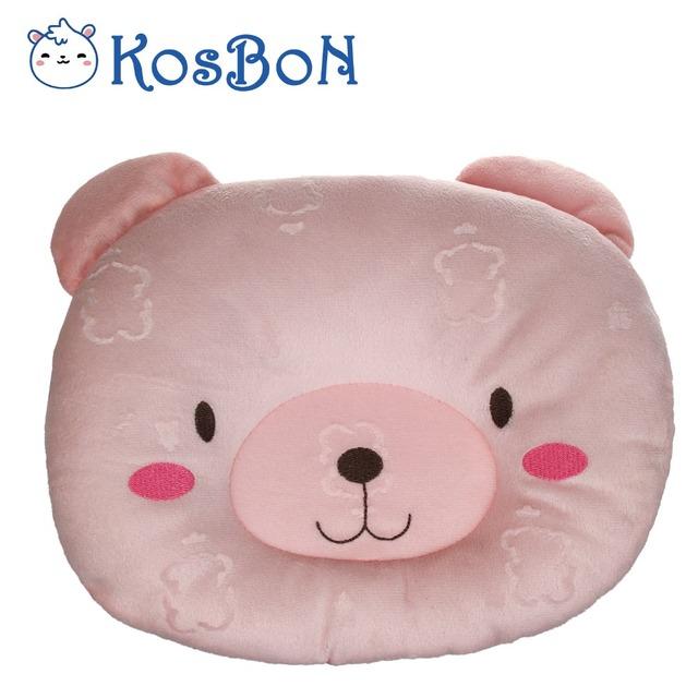 Puro Algodão Macio Anti Rolo Bebê Dormindo Travesseiro Moldar Forma Bonito do Urso de Proteção Do Pescoço Da Espuma Da Memória Travesseiro De Enfermagem Para Recém-nascidos