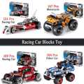 Brand New 124/147/169/184Pcs Vehicle Motorcycle Polices Racing Car Model Building Block Meccano Toy Set Gift For Boy