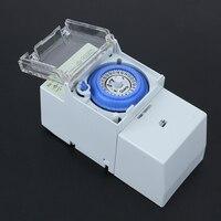 Hoge Kwaliteit Timer 2 W AC 220 V 12A 24 uur Dagelijks Analoge Mechanische Timer Tijd Schakelaars Manual/Auto Controller Tijd Schakelaar MFBS