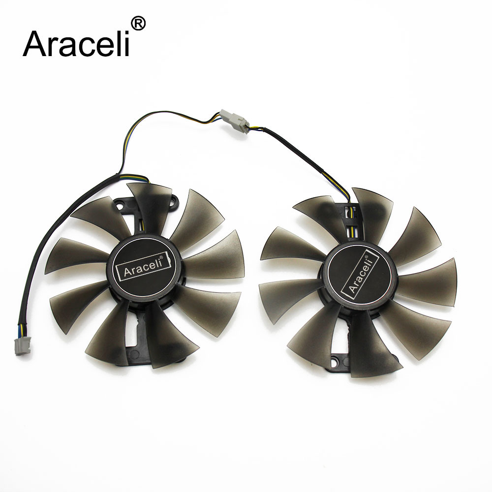 2pcs/set GA91S2H GTX 1060 EXOC 3GB GPU Cooler Fan For KFA2 GALAXY GeForce GTX1060 EXOC 6GB GeForce GTX1060 VGA Cards Cooling Fan image