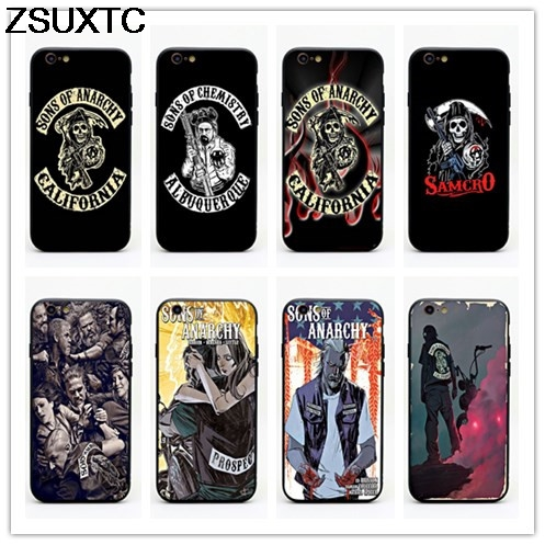 Sons of Anarchy tpu+pc phone case for iphone 5 5s se 6 6s 6p 7 7p 8 8p X