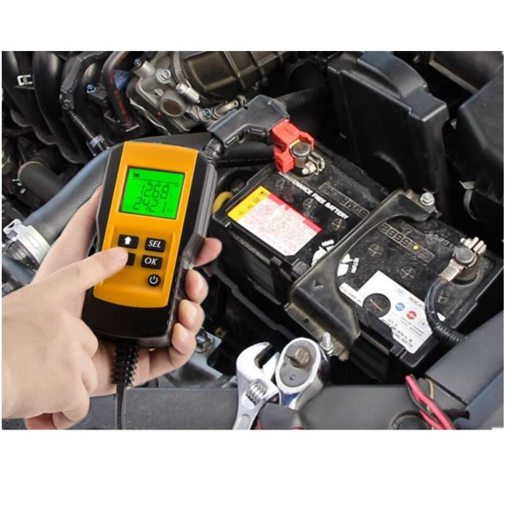Digital Car Battery Auto System Analyzer AE300 12V LCD Automotive Vehicle Battery Voltage ohm Tester