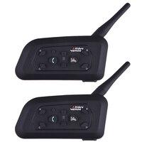 2016 Fodsports 2 Pcs V6 Pro Motorcycle Helmet Bluetooth Headset Intercom 6 Riders 1200M Wireless Intercomunicador