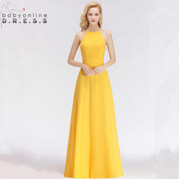 Customized Sleeveless Keyhole Evening Dress Sexy Halter Simple Solid A Line Evening Gown 34 Colors Robe de Soiree Longue - DISCOUNT ITEM  53 OFF Weddings & Events