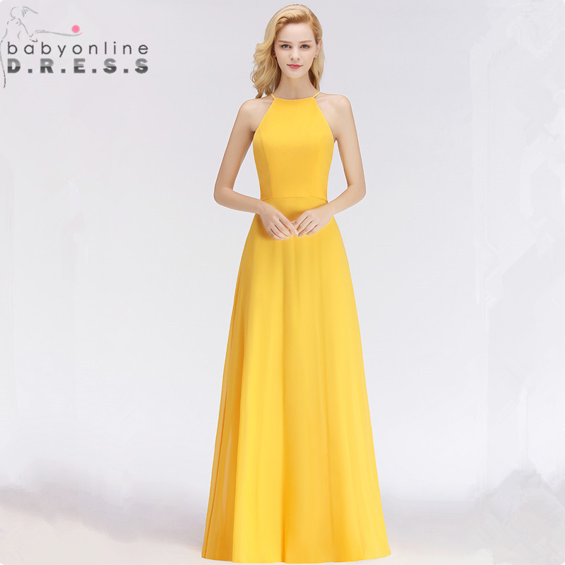 Customized Sleeveless Keyhole   Evening     Dress   Sexy Halter Simple Solid A Line   Evening   Gown 34 Colors Robe de Soiree Longue