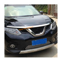 Car garnish grill hood front engine machine grille upper hood lid trim 1pcs For Nissan X trail xtrail T32/Rogue 2014 2015 2016