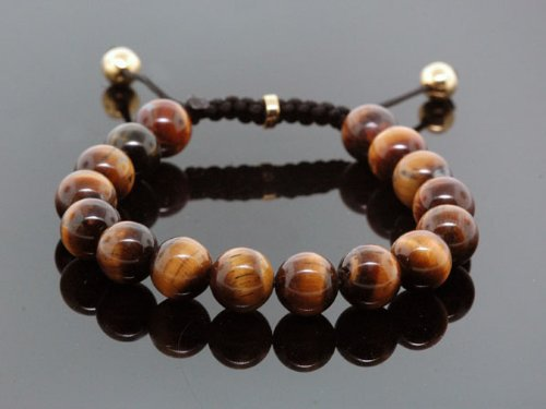 Fashion Shamballa Jewelry Rope Handmade High Quality Tiger Eye Beaded Bracelet For Men And Women
