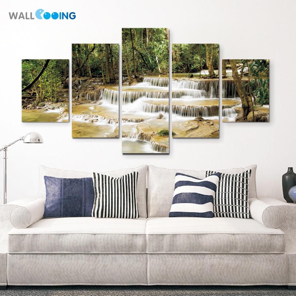 Duvar cooing tekel Tuval Boyama Dekoratif boyama tropikal yağmur - Ev Dekoru - Fotoğraf 2