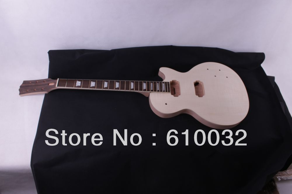 1set  LP Unfinished electric guitar body+neck 1set unfinished electric guitar neck set in