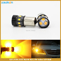 T25 1157 1156 BAU15S PY21W P21W 12 SMD 2835 LED Âmbar Amarelo Cauda Turn Signal Car Light Bulb Lamp