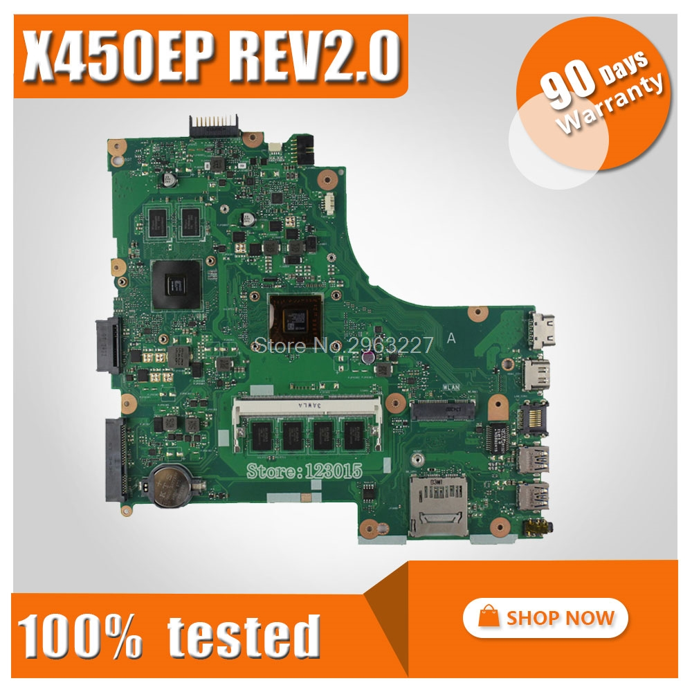 Original Motherboard for ASUS X450EP X452E Laptop Motherboard REV:2.0 Main board 100% Tested & 90 Warranty daysOriginal Motherboard for ASUS X450EP X452E Laptop Motherboard REV:2.0 Main board 100% Tested & 90 Warranty days