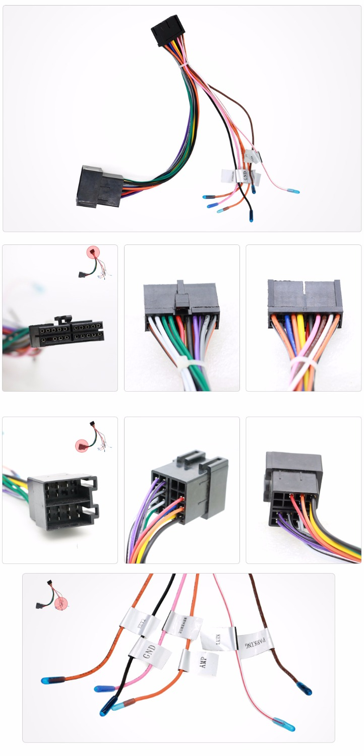 universal male iso radio wire cable wiring harness car. Black Bedroom Furniture Sets. Home Design Ideas