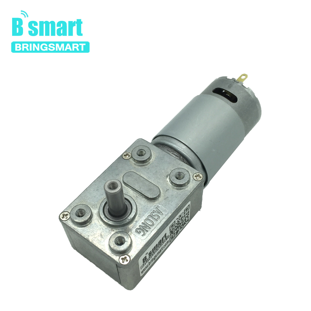 Bringsmart JGY-395 Worm Gear Motor Low Speed 12V Worm Reduction Gearbox Engine 2.5-210RPM Self-locking Geared MotorBringsmart JGY-395 Worm Gear Motor Low Speed 12V Worm Reduction Gearbox Engine 2.5-210RPM Self-locking Geared Motor