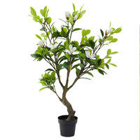 1.3 m Lifelike Artificial Magnolia tree Potted plants Home decoration flowers indoor outdoor Simulation plants Wedding Evergreen