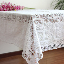 Hot Sale Fashion American pastoral Knitting lace tablecloths Lace Sofa towel cloth art cotton Crochet table cover Free Shipping