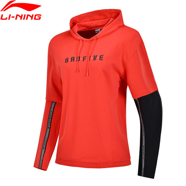 Li-Ning Unisex BAF FIVE Basketball Sweater Loose Fit 100% Cotton Comfort LiNing Hit-Color Fitness Sports Hoodie AWDP072 MWW1579