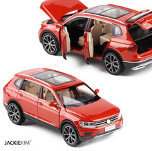 1/32 ALL New Tiguan L Diecast Metal SUV Alloy Car Model For Kids Christmas Gifts Collection Original Box Free Shipping(China)