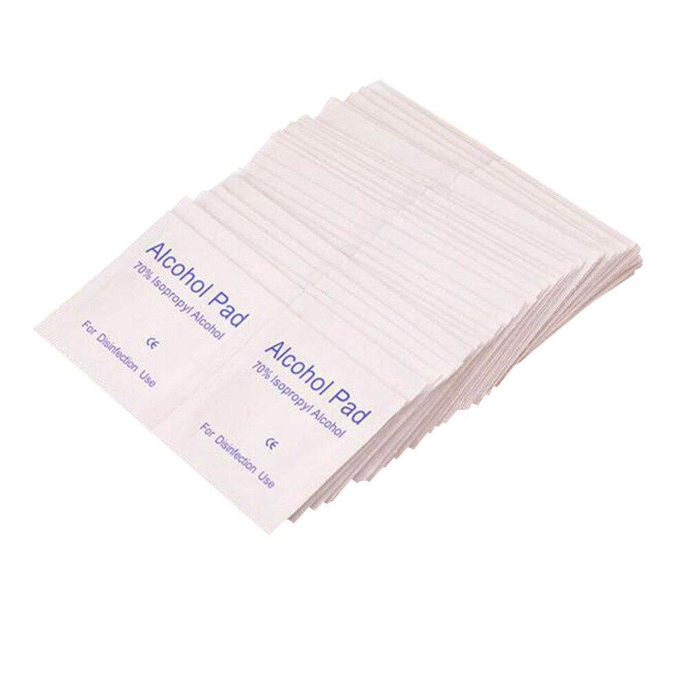 200 Pcs Portable Alcohol Pad 70% Isopropyl Sterilization, Medical Wipe Sachet Antibacterial Tool Cleanser Non-woven Fabrics