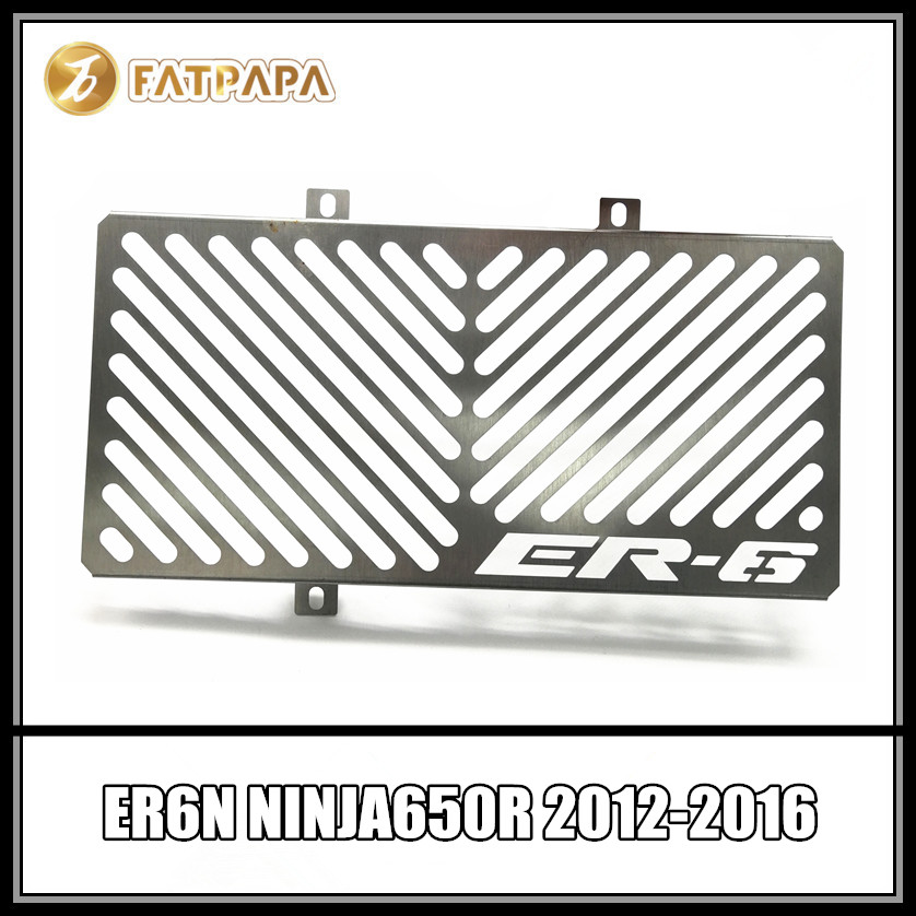 ER 6N 6F Motorcycle Accessories Stainless Steel Radiator Protection FOR KAWASAKI ER-6N ER-6F ER6N ER6F NINJA 650R 2012-2016