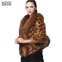 2018 Для женщин зима Faxu шуба Новый стиль три четверти рукав короткий жакет элегантный Leopard Тонкий больших размеров женские пальто LADIES339