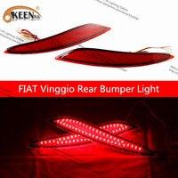 Okeen 2 개 피아트 vinggio 밝은 led drl 12 볼트 방수 자동 자동차 후면 조명 신호 운전 안개 램프 자동차 스타일링