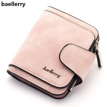 Baellerry New Ladys Wallet 2018 Luxury Brand Wallet Women Scrub Leather Female Wallets Purse for Coins Carteira Feminina Bolsa cheap Fashion Solid Hasp Standard Wallets Short None 9 5cm 11 5cm 150g 1 8cm women wallet Polyester Coin Pocket Note Compartment Card Holder