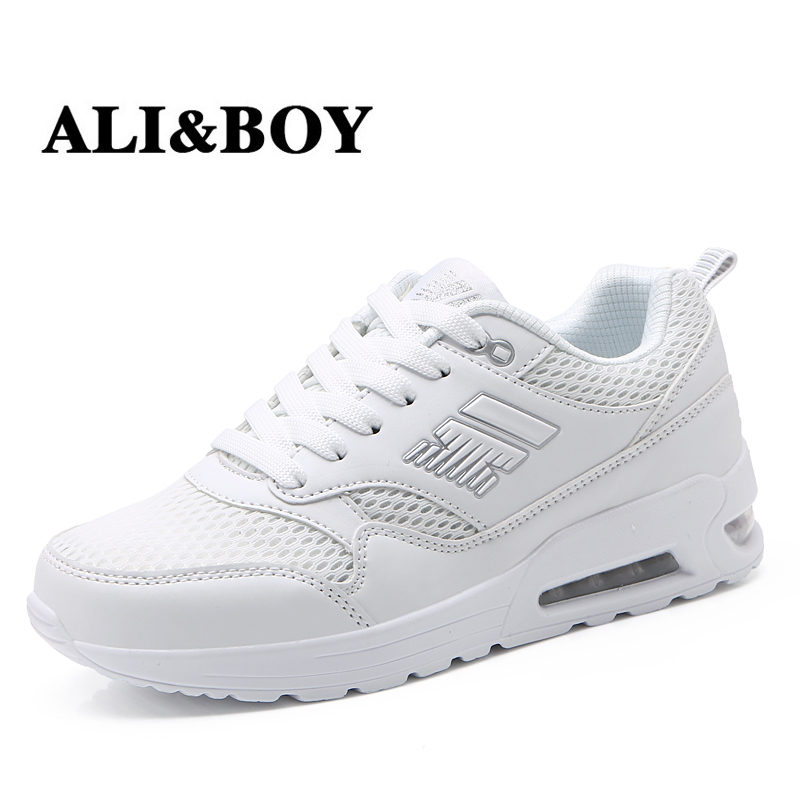 ALI&BOY krasovki womens running shoes Outdoor Comfortable Breathable gym ladies shoes walking White sneakers women sport shoes