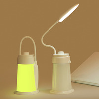 2017 Fashionable 1Pcs Creative Hand Held Portable Rechargeable USB LED Night Lamp Suitable For Bed Camping
