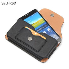 PU Leather Case Fundas Coque Capa for Blackview BV6000s BV6000 BV7000 Pro Universal Bag Pouch Phone Case cover Etui Belt Clip(China)