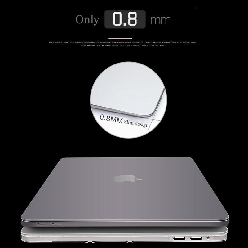 Crystal Hard Laptop Case For MacBook Pro 16 A2141 2019 Touch ID A1932 Cover For Macbook