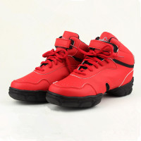 New Style Red Breathable Modern Dancing Sneakers Woman Jazz Dancing Shoes Zapatilla De Deporte WZJ DS3