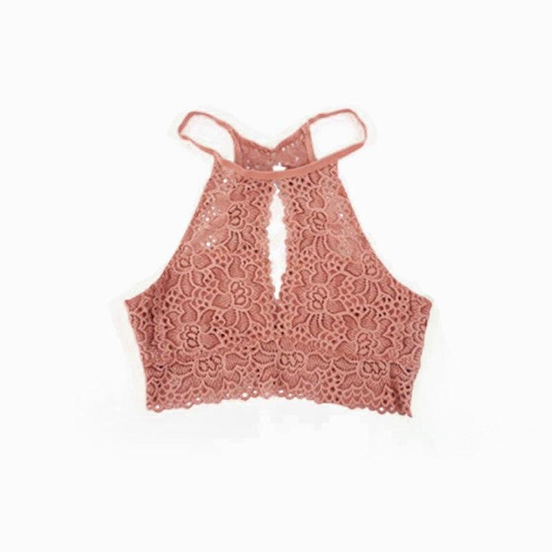 LNRRABC ropa mujeres niñas moda Popular Crop Tops mujeres chaleco Sexy  verano chaleco sin mangas encaje cb17fee56a22