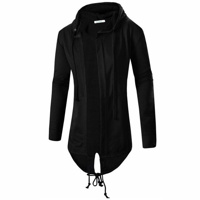 Men Long Hooded Trench Cape...