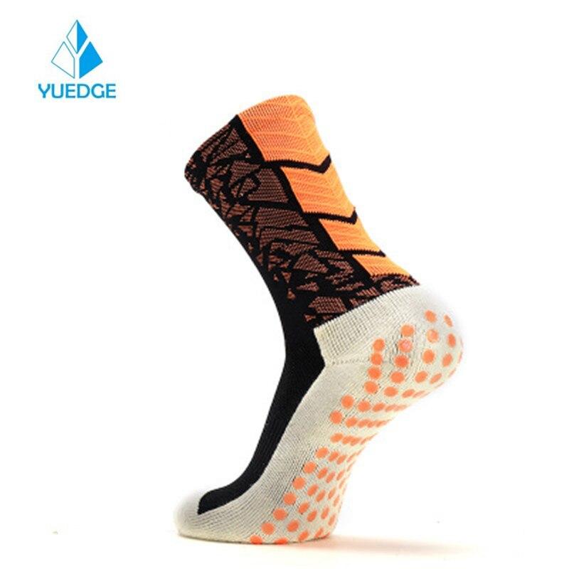 YUEDGE Non slip Breathable Cushion Cotton Crew Comfort Football Soccer Socks Basketball Socks For Men 1 Pairs Pack