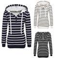 Hoodie Sweatshirts Women Long Sleeve Pullover Fashion Striped Printed Sportwear Brand Clothing Slim Fitness Hoody Tops Harajuku